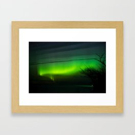 Michigan Aurora Framed Art Print