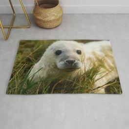 Cute White Seal Pup Rug