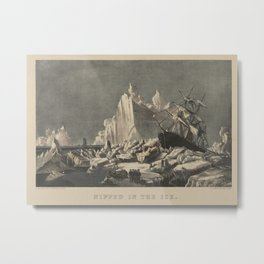 Nipped in the Ice,1876–94 Metal Print