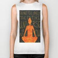 buddha Biker Tanks featuring Buddha by Zoë Miller