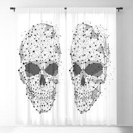 Super cool Skull Molecules Blackout Curtain