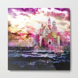 Fairytale Castle Sunrise Metal Print