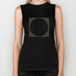 """Grey & Polka dots central circle pattern"" Biker Tank"