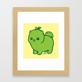 Apple Green Pom de Terrier Framed Art Print