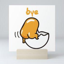 Gudetama The Lazy Egg Bye Mini Art Print
