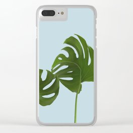 Monstera madness IV Clear iPhone Case