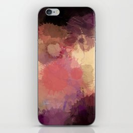 Modern Contemporary Ultra Violet Glow Abstract iPhone Skin
