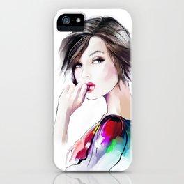 sad girl iPhone Case