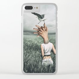 Love and freedom - surreal hands Clear iPhone Case