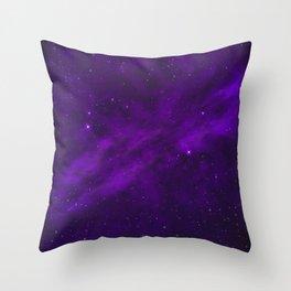 Ultra Violet Galaxy Throw Pillow