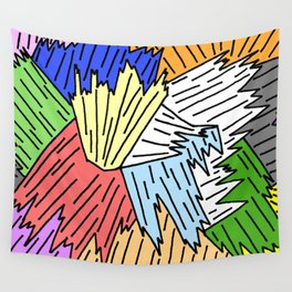 Color Shards Wall Tapestry