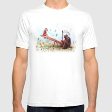 death's playground LARGE Mens Fitted Tee White
