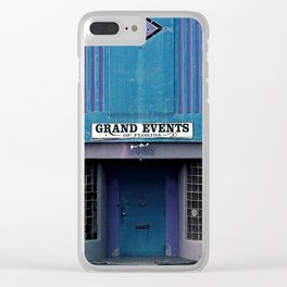 Grand Events in blues Clear iPhone Case