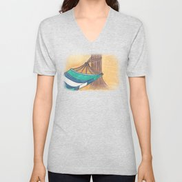Just Swaying Away-Watercolor Hammock Design Unisex V-Neck