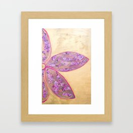 Shades of pink and gold Framed Art Print