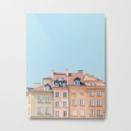 Warsaw Pastels - Poland Architecture, Travel Photography Metal Print