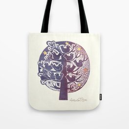 Untitled (tree), etching Tote Bag