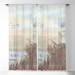 Duck Hunting Season Begins For The Canvasback Sheer Curtain