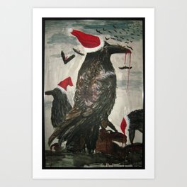 Birds of a Feather, Kill Together  Art Print