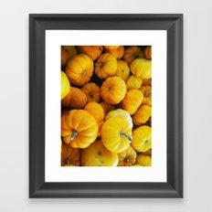 Pumpkin Minis Framed Art Print