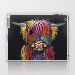 Scottish Highland Cow ' BRAVEHEART ' by Shirley MacArthur Laptop & iPad Skin
