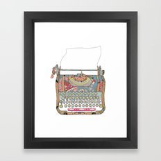 I DON'T KNOW WHAT TO WRITE YOU Framed Art Print