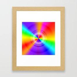 WeAreOneLove Framed Art Print