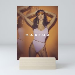 MARINA ROCKING THE BODYSUIT Mini Art Print
