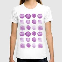 Purple Sea Glass Circle Watercolor JUUL T-shirt