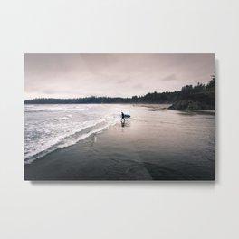 Cold Surf Metal Print