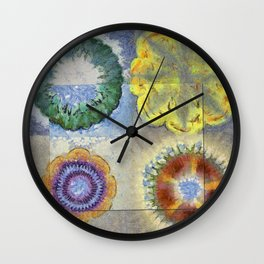 Recogitation Web Flowers  ID:16165-062317-11821 Wall Clock