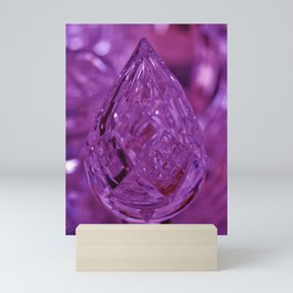 PURPLE AMETHYST GLASS JEWEL Mini Art Print