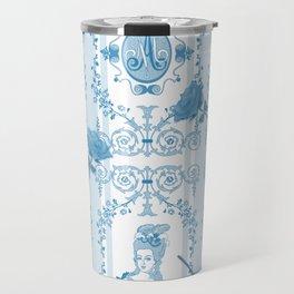 Marie-Antoinette Monogram (Aqua) Travel Mug