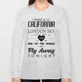 Fly Away - White Long Sleeve T-shirt