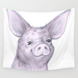 Sketchbook - Pink Piggy Wall Tapestry