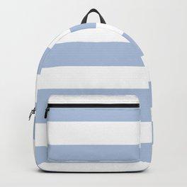 Light steel blue - solid color - white stripes pattern Backpack