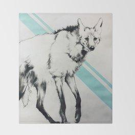 Maned Wolf Throw Blanket