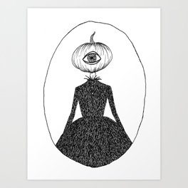 Pumpkin Head Art Print
