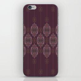 Vintage Burgundy vertical iPhone Skin