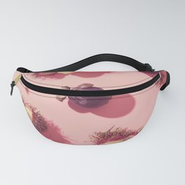 03_#Rambutan#mangosteen#tropical#fruits#in pink Fanny Pack