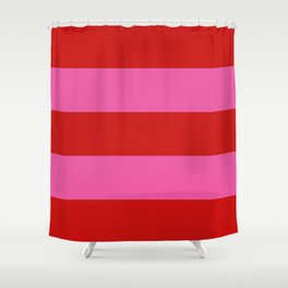 Valentines Day Wide Horizontal Stripes #2 Shower Curtain