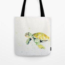 turtle watercolor art Tote Bag