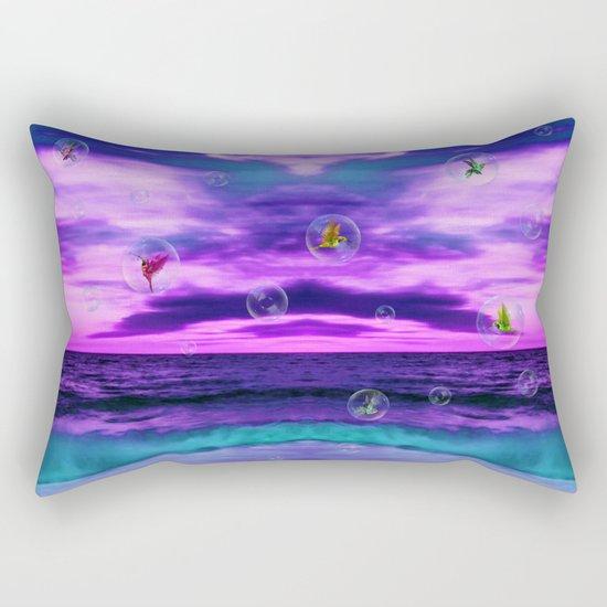 Birds in  bubbles Rectangular Pillow