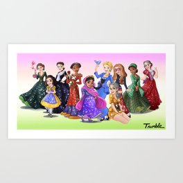 """Ten Real-World Princesses Who Don't Need Disney Glitter"" Trumble Cartoon Art Print"