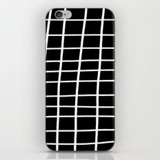 Hand Grid Large Black iPhone Skin