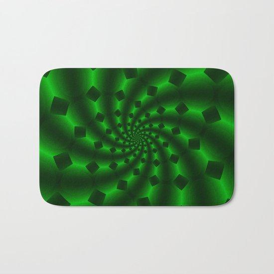 Tess Fractal in Magical Emerald Green Bath Mat