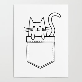 Cat in my pocket Poster