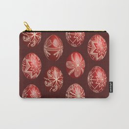 Realistic easter red dyed eggs pysanka Carry-All Pouch