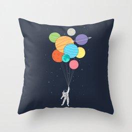 Planet Balloons Throw Pillow