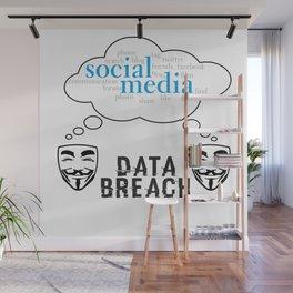 Social Media Data Breach Wall Mural